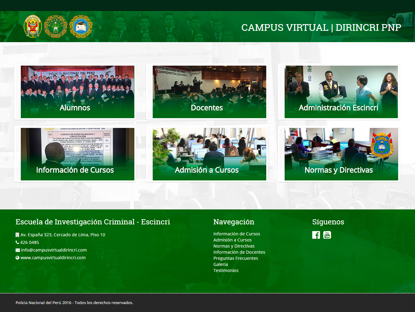 campus virtual dirincri
