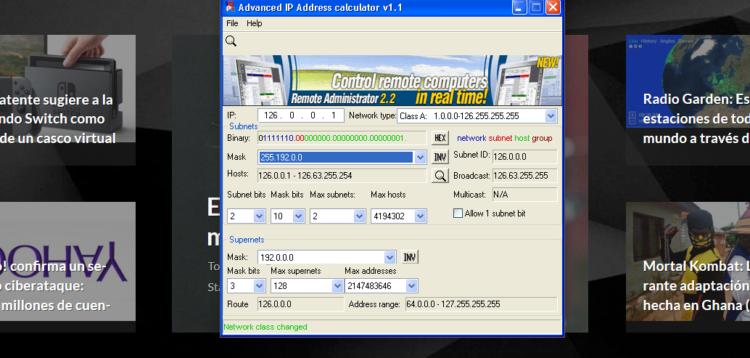 Programas de calculadora de IP Subnet