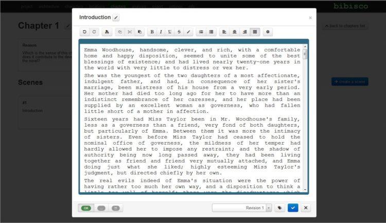 Bibisco: Completo software para escritores de novelas