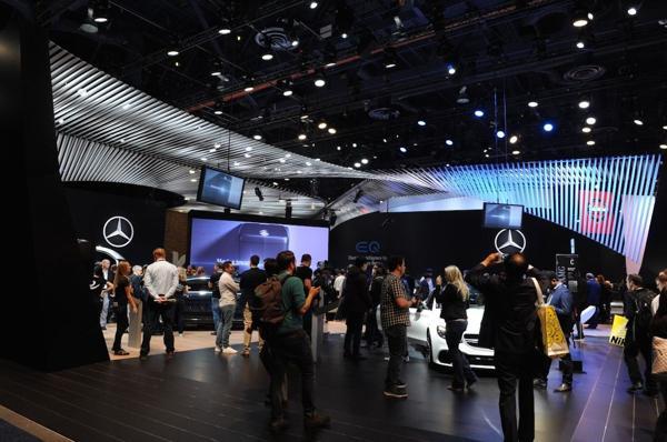 El stand de Mercedes-Benz en la feria tecnológica que cumple 50 años con la edición en curso