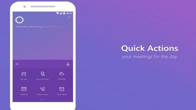Cortana toma un lugar en la pantalla de bloqueo de Android