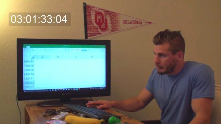 ¿Cuánto se tarda en llegar al final de una hoja de Excel?