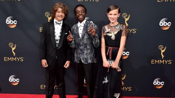 Los actores de 'Stranger Things' en los premios Emmy (AFP)