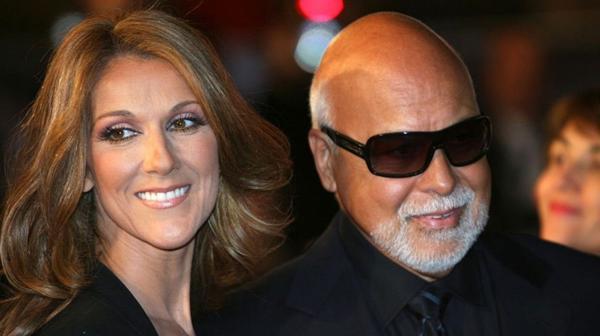 Céline Dion y su fallecido esposo, René Angelil (AFP)