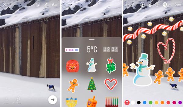 Instagram: stickers y opción para grabar en modo manos libres