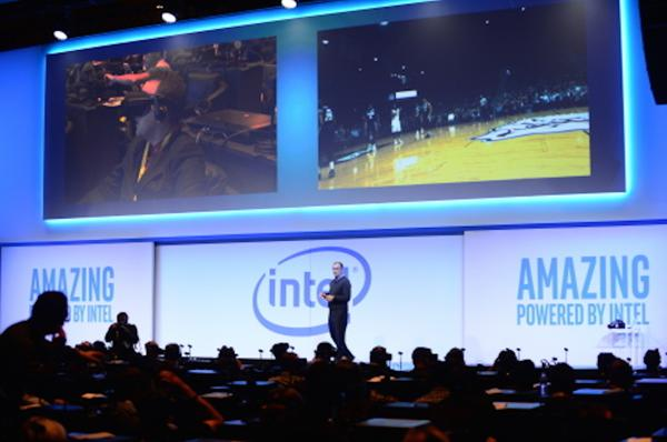 Brian Krzanich, CEO de Intel Corporation, durante una conferencia de prensa en el CES 2017
