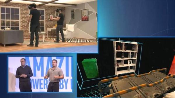 """Intel propone una """"realidad fusionada"""" mediante la cual se podrán eliminar, por ejemplo, muebles de la casa que no colaboran en la creación del escenario perfecto para un juego de realidad virtual"""