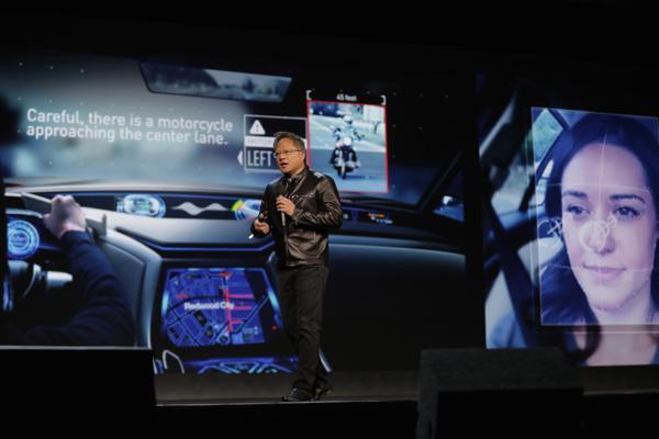 El CEO de Nvidia Jen-Hsun Huang durante su presentación en la feria de tecnología de consumo de Las Vegas que cumple 50 años