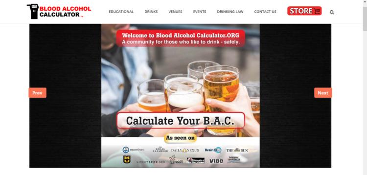 Programas para calcular el alcohol en sangre