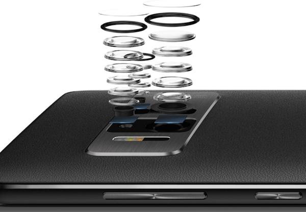 La compleja cámara del nuevo teléfono tiene la capacidad de combinar, mediante el uso de sensores de movimiento y profundidad, capacidades de realidad virtual y aumentada