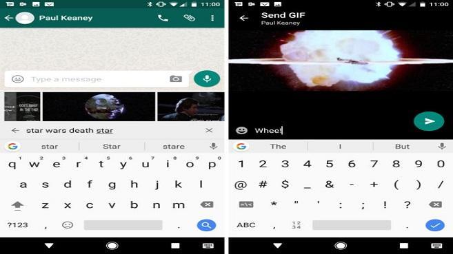 WhatsApp ofrece la experiencia completa de los GIF en su última versión beta.