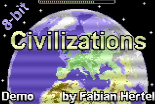 8-bit Civilizations: Civilization adaptado para Commodore 64