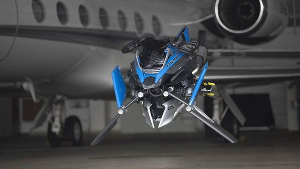 Para la construcción de la Hover Ride Design Concept se utilizó el chasis del modelo original y se respetaron algunos mandatos históricos del fabricante de motos