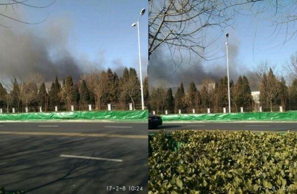 """El humo negro de la fábrica no parece de un """"incendio menor"""""""