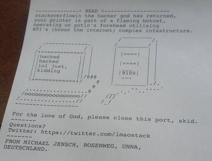«Tu impresora es parte de una botnet»: La seguridad de las impresoras al descubierto
