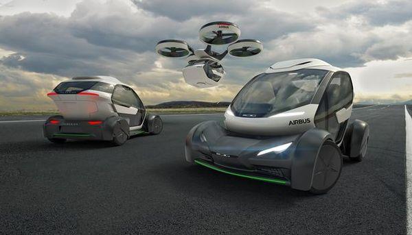 El increíble auto volador con inteligencia artificial de Airbus podría revolucionar el transporte al permitirle volar por encima de atascos de tráfico