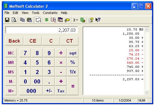 Calculadora con opción de rollo de papel