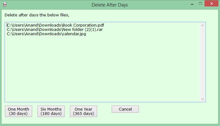 Delete After Days: Programa la eliminación de archivos y carpetas