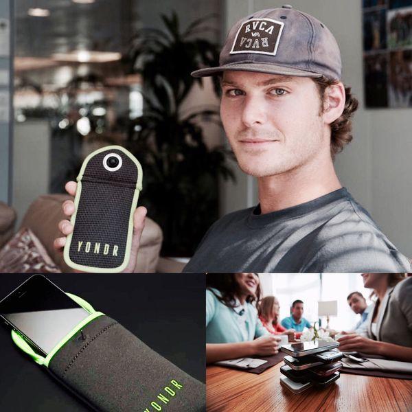 Graham Dugoni, CEO y fundador de Yondr, la empresa detrás del sencillo estuche que permite, al menos por unas horas, dejar de mirar incesantemente la pantalla del smartphone