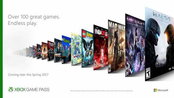 Imagen promocional del Xbox Game Pass con una selección de juegos que estaándisponibles