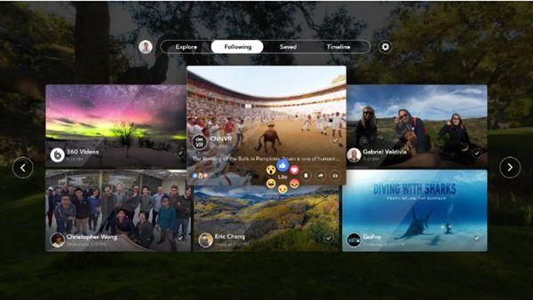 Facebook lanzó una aplicación especial para disfrutar fotos y videos en 360°