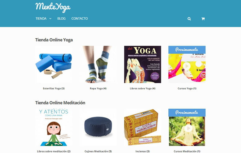 menteyoga - tienda online woocommerce