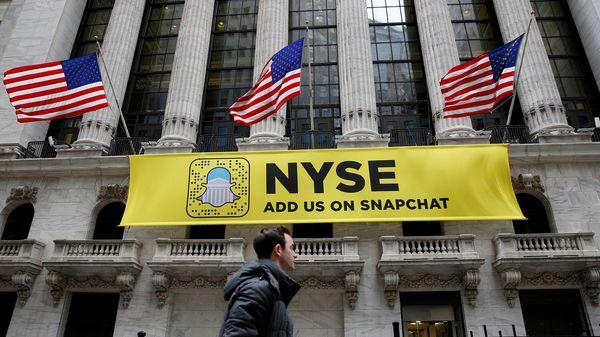 Snapchat debuta en Wall Street tras recaudar USD 3.400 millones en su oferta pública inicial