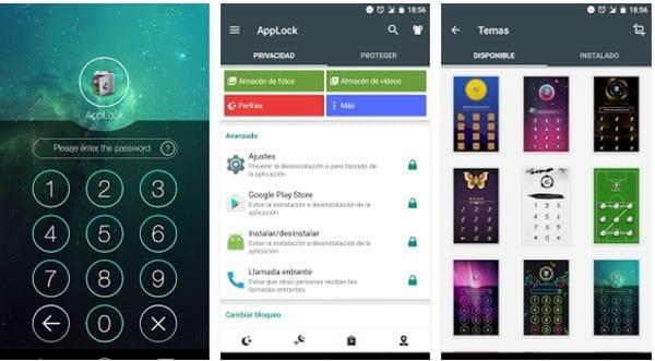 AppLock permite restringir el acceso a diferentes aplicaciones del smartphone