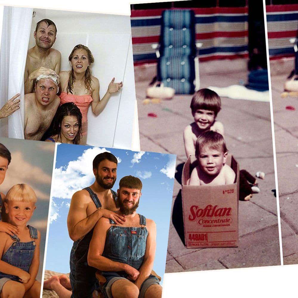 Así pasan los años: las hilarantes recreaciones de fotos infantiles que se vuelven virales
