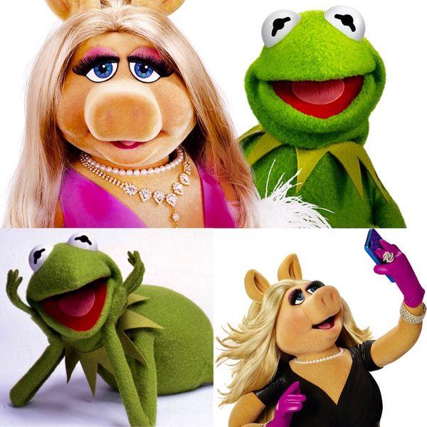 La Rana René y Señorita Piggy, dos de los personajes más emblemáticos de los Muppets, continúan vigentes a la fecha.