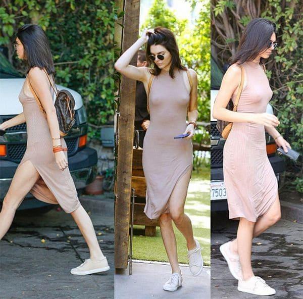 Kendall Jenner, la it girl del momento, es fanática de esta tendencia y elige prendas básicas como vestidos, blusas y grandes escotes reivindicando sus pechos