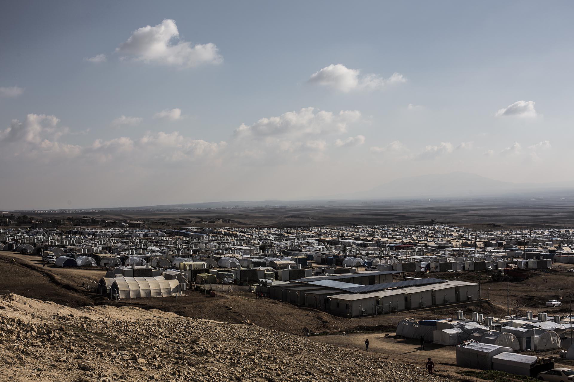 Vista general del campo de refugiados Essian, donde viven más de 15.000 yazidíes (Pablo Cobos)