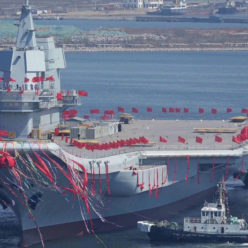 China inauguró su primer portaaviones fabricado por completo en el país