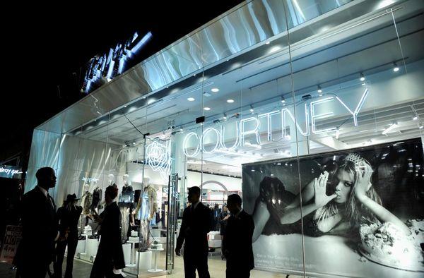Love, Courtney la tienda central de Nasty Gal en California. (John Sciulli/Getty Images for Nasty Gal)