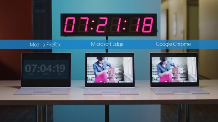 Edge le saca más de tres horas de ventaja a Chrome en batería