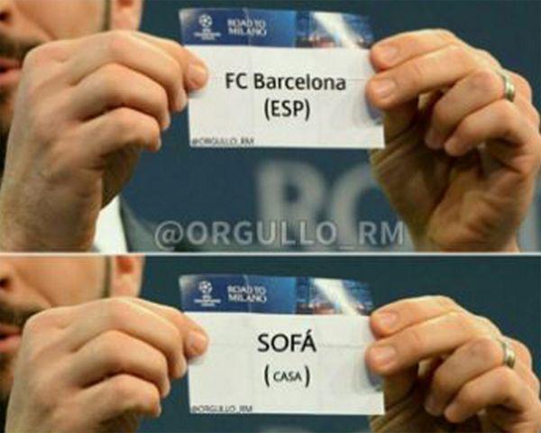 El Barcelona, víctima de los mejores memes tras el sorteo de Champions League