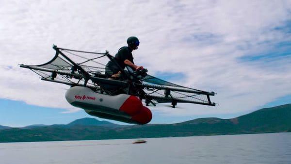 El primer prototipo de Kitty Hawk es capaz de volar a 40 kilómetros por hora