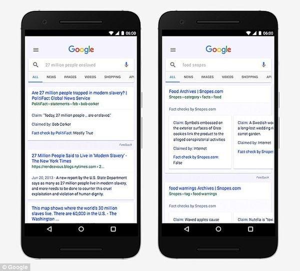 En la era de las noticias falsas, el gigante de Internet Google está mejorando su contenido tratando de separar el hecho de la ficción