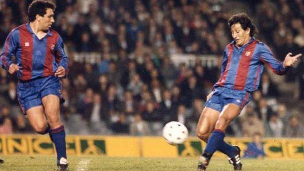 Julio César Romero jugó siete partidos y anotó un gol en el Barcelona FC de Cruyff