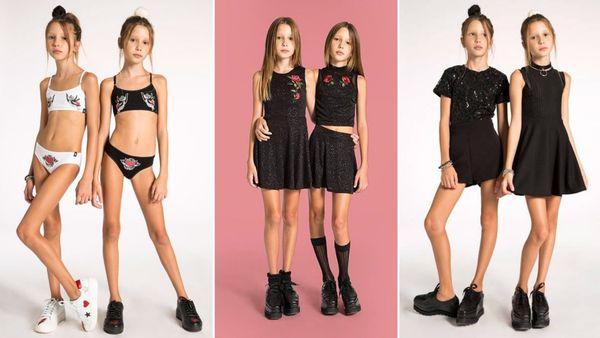 La polémica campaña de ropa infantil que provocó indignación por la extrema delgadez de las modelos