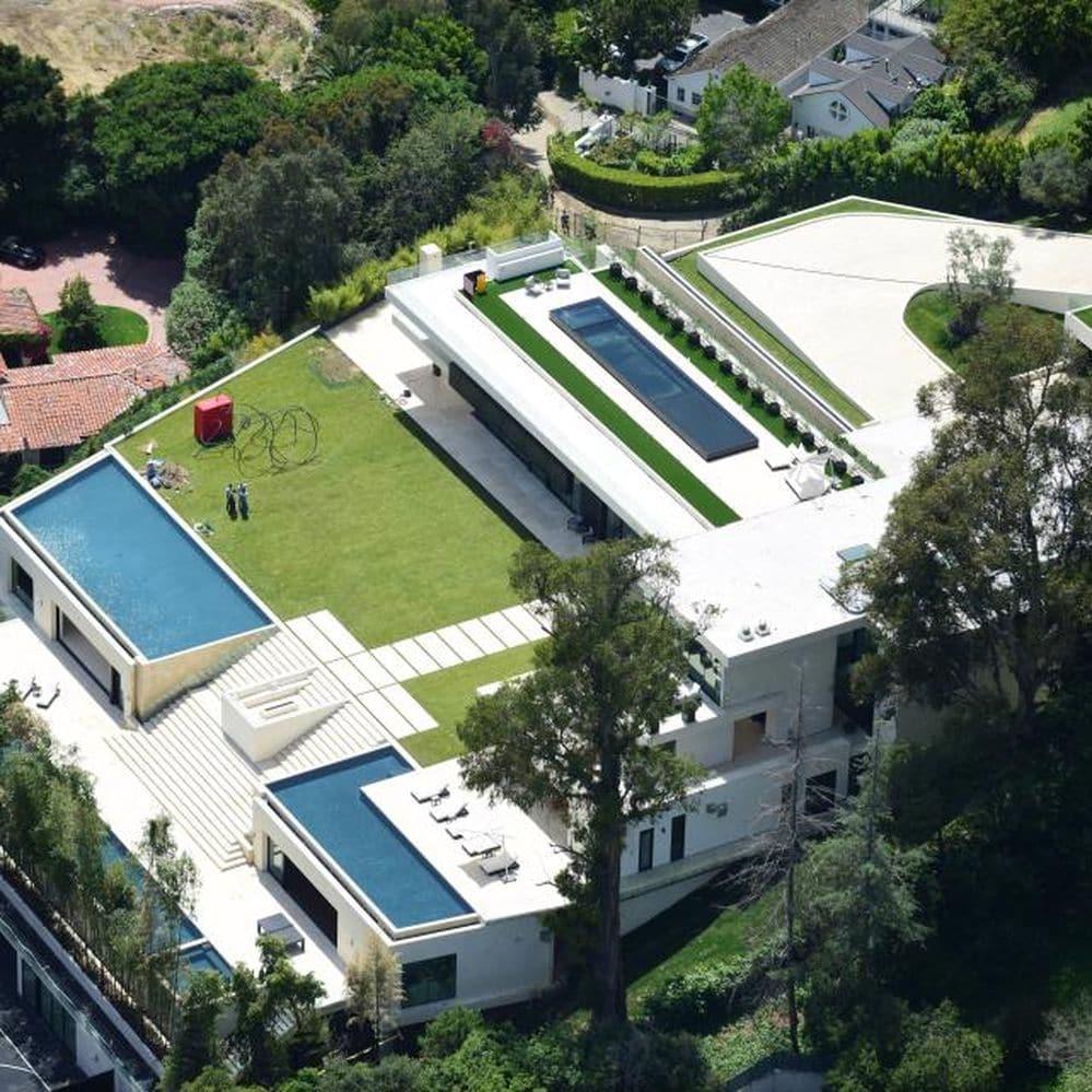 Las fotos aéreas de la mansión que quieren comprar Beyoncé y Jay Z: la más lujosa de Hollywood