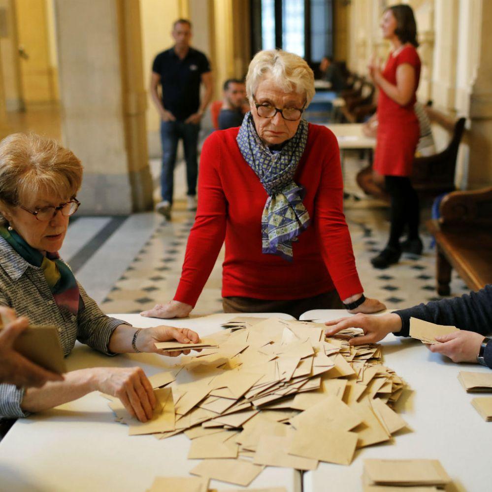 Las mejores fotos de las elecciones en Francia