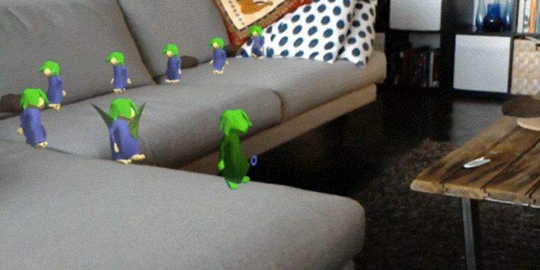 Lemmings para HoloLens: Lemmings en realidad aumentada, muriendo entre tus muebles