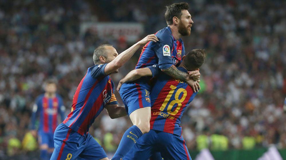 Los goles del clásico entre Barcelona y Real Madrid