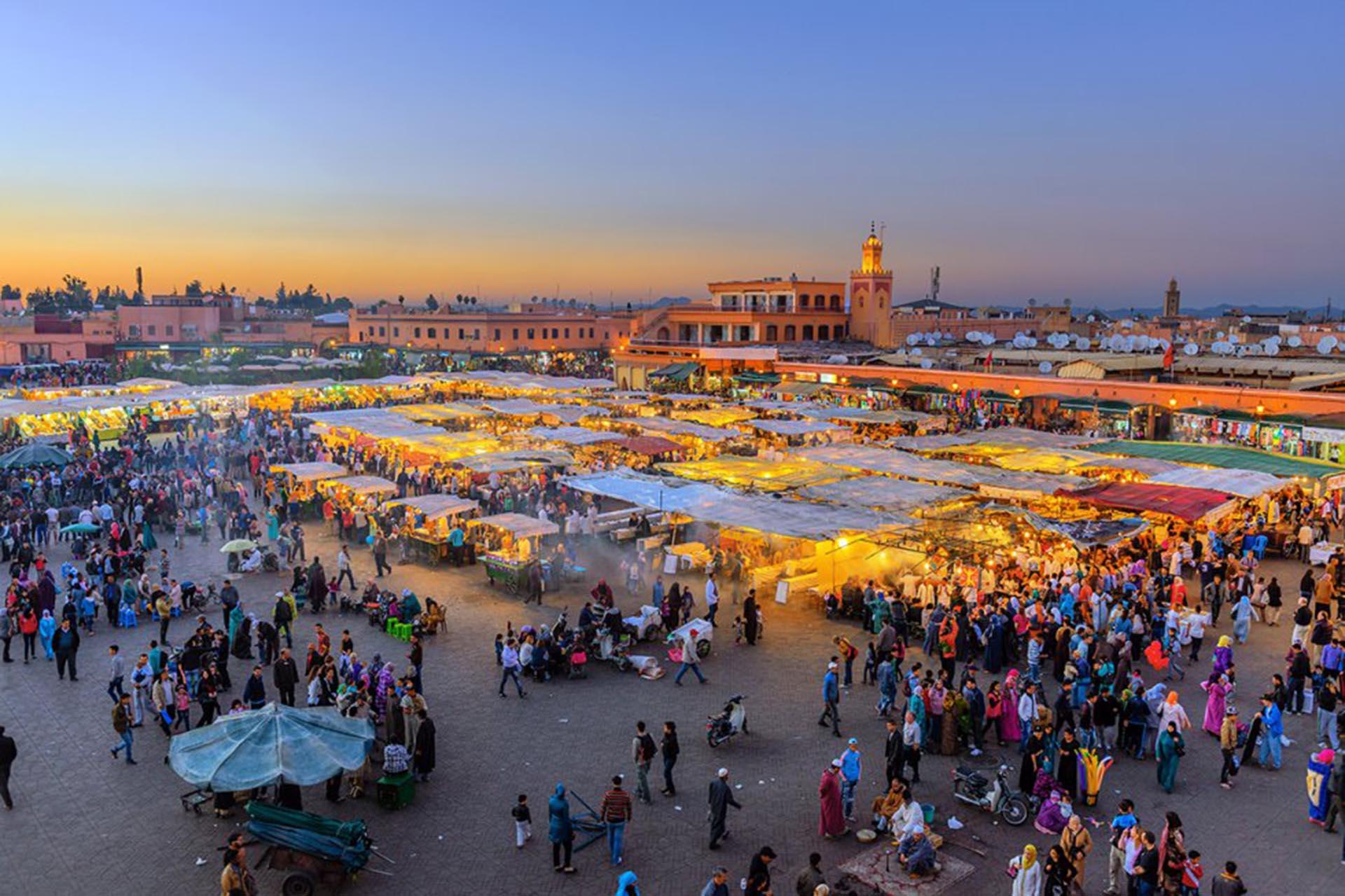 Plaza Yamaa el Fna (Marrakech, Marruecos)