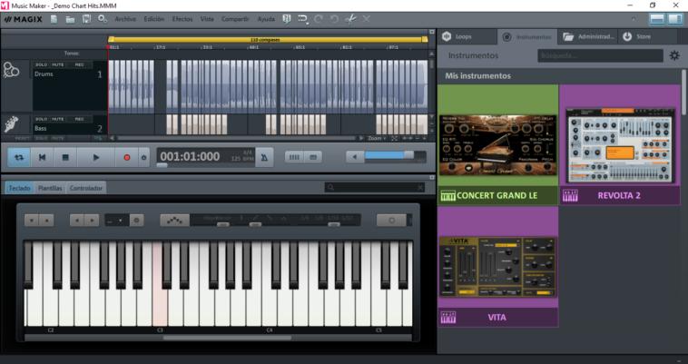 Music Maker: Potente programa para crear música con diversas funciones