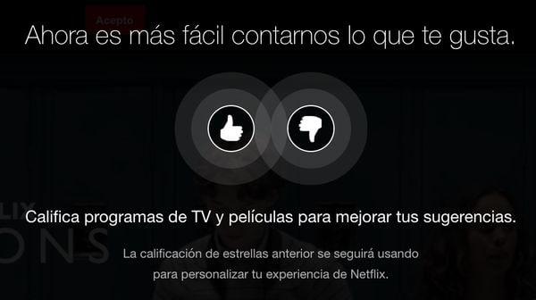 Netflix cambia el sistema de evaluación: pulgar por estrellas