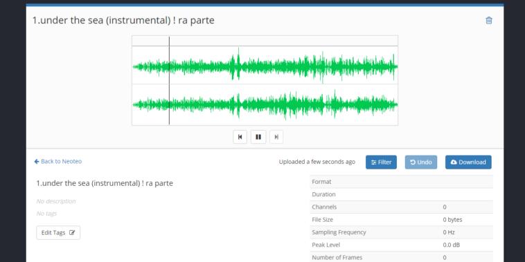 Sawtooth: Editor de audio en línea con sintetizador y filtros