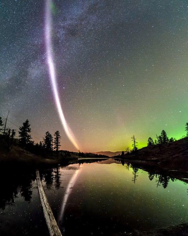 """""""Steve"""", el misterioso fenómeno lumínico que nadie sabe qué es"""