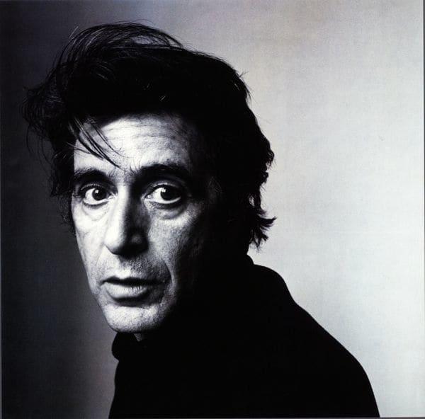 Retrato de Al Pacino en blanco y negro como solía hacerlo el fotógrafo tomada en 1995 en Nueva York.